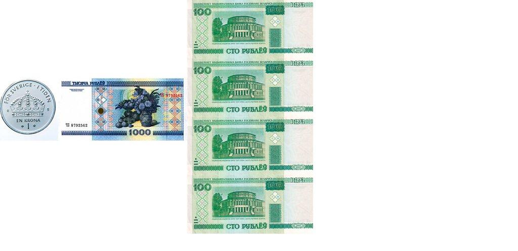Шведская крона - белорусский рубль